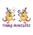 Cartoon Party Monsters Set vector image vector image