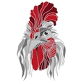 Chinese new year 2017 rooster head vector image