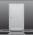 closed door on the glossy chess floor vector image