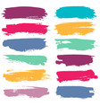 color grunge brushes watercolor paint linear vector image