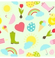 Colorful fresh Spring seamless background pattern vector image