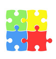 colorful puzzle on white background vector image vector image
