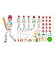 cricket player male sport cricket player vector image vector image