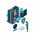data protection concept cyber security self vector image vector image