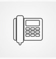 desk phone icon sign symbol vector image vector image