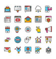 digital and internet marketing icons set 1 vector image vector image