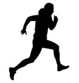 dynamic running uphill male vector image vector image