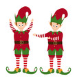 elves collection isolated on white background vector image vector image