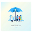 family health care with insurance vector image vector image