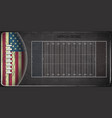 field for game in the american football vector image vector image