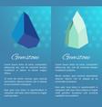 gemstone posters precious stones minerals crystals vector image