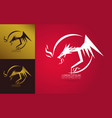 graceful dragon silhouette logo vector image vector image