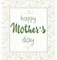 hand drawn mothers day lettering framed vector image vector image