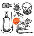 Hand Drawn Sketch Pest Control vector image