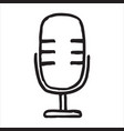handdrawn microphone doodle icon vector image vector image
