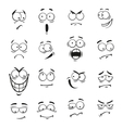 Human cartoon emoticon faces with expressions vector image vector image