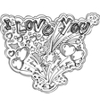 I LOVE YOU box explosion vector image vector image
