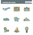 icons line set premium quality tourism travel vector image vector image