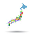 japan map icon flat japan sign symbol with vector image