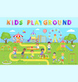 kids playground in green park vector image