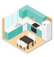 Kitchen Isometric vector image vector image
