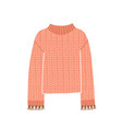 knitted jumper cute pink vector image vector image