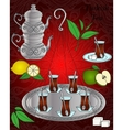 Line icon Turkish tea set