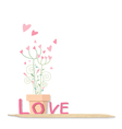 Love flowers design on white background vector image