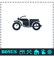 motorcycle icon flat vector image vector image
