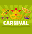music carnival logo flat style vector image vector image