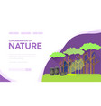 nature contamination landing page template vector image vector image