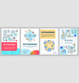 offshoring brochure template layout global trade vector image vector image