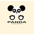 panda black and white logo vector image vector image