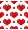 Polygonal hearts pattern