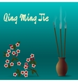 Qing Ming Jie Chinese Festival of pure light vector image vector image