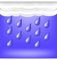Rainy Weather Raindrops Falling vector image