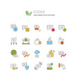 set line icons finance vector image