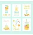 Set of six different smoothie cards vector image vector image