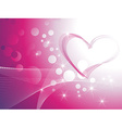 Shiny heart background vector image vector image