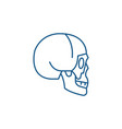 skull side view line icon concept skull side view vector image vector image