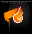 stylish tags vector image vector image