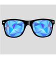sunglasses with abstract geometric triangles vector image