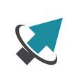 swoosh arrow logo icon vector image