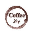 thematic coffee shop logo isolated on white vector image vector image