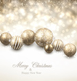 Winter background with golden christmas balls vector image vector image