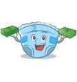with money baby diaper character cartoon vector image vector image