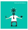 Work and life balance conceptbusinessman icon vector image