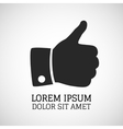 thumbs up icon vector image