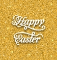 Abstract Easter Card with Hand Written Phrase vector image