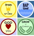 four colorful Christian logo vector image